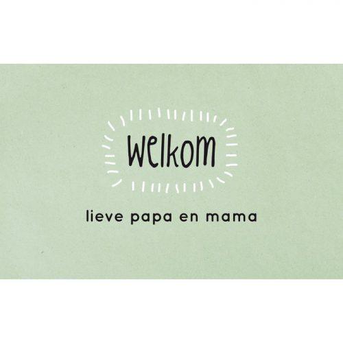 ansichtkaart welkom papa en mama